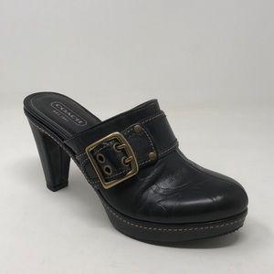 Coach Candance Black Clog/Mule Size 8B